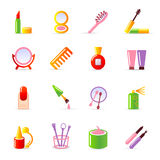 Cosmetic icons Stock Photo
