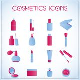 Cosmetic icons Royalty Free Stock Images