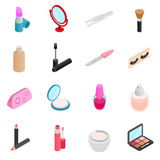 Cosmetic icons set Stock Photos