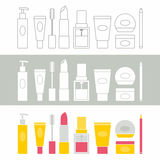 Cosmetic icons Stock Photo