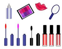 Cosmetic icons symbols lips royalty free stock photography