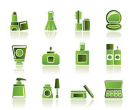 Cosmetic Industry and beauty icons stock illustration