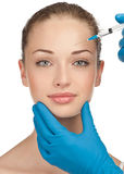 Cosmetic injection of botox Royalty Free Stock Images