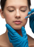 Cosmetic injection of botox Stock Image
