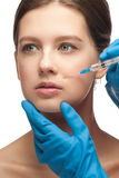 Cosmetic injection of botox Royalty Free Stock Photo