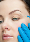 Cosmetic injection of botox Royalty Free Stock Photography