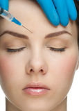 Cosmetic injection of botox Royalty Free Stock Image