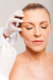 Cosmetic injection woman Royalty Free Stock Photos