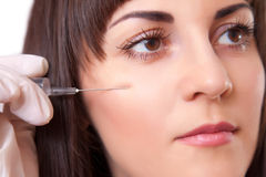 Cosmetic injection, studio portrait Stock Image