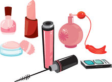 Cosmetic Items Royalty Free Stock Photography