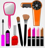 Cosmetic Items Stock Photo