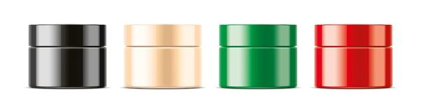 Cosmetic Jar for Cream and other. Non transparent version royalty free stock photo