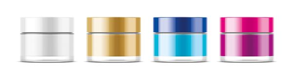 Cosmetic Jar for Cream and other. Transparent version stock image