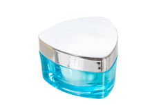 Cosmetic jar with white cream Stock Photo