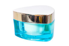 Cosmetic jar with white cream Royalty Free Stock Photos