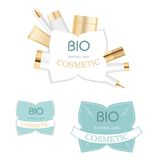 Cosmetic labels Royalty Free Stock Photo