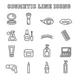 Cosmetic line icons Royalty Free Stock Photos