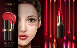 Cosmetic lipstick ad Stock Photography