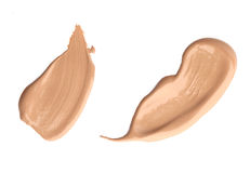 Cosmetic liquid foundation, concealer. Or moisturizer isolated on white background Stock Photo