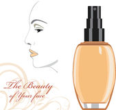 Cosmetic liquid foundation cream. The beauty of Your face Royalty Free Stock Images