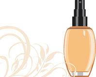 Cosmetic liquid foundation cream. Illustration Stock Image
