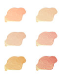 Cosmetic liquid foundation samples Royalty Free Stock Photo