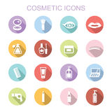 Cosmetic long shadow icons Royalty Free Stock Photos