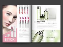 Cosmetic Magazine Template Stock Photography