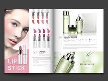 Cosmetic magazine template stock illustration