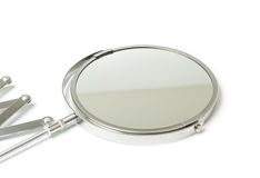 Cosmetic magnifying  mirror isolated on white Stock Image