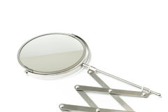 Cosmetic magnifying  mirror isolated on white Stock Images