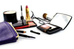 Cosmetic and Make up bag Stock Photos