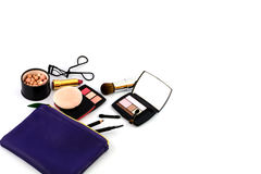 Cosmetic and Make up bag Stock Photo