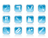 Cosmetic, make up and hairdressing icons Royalty Free Stock Photography