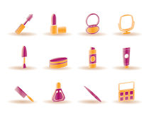 Cosmetic and make up icons Stock Photo