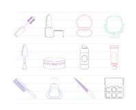 Cosmetic and make up icons Stock Photos