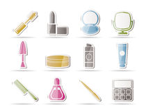 Cosmetic and make up icons Royalty Free Stock Photos