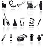 Cosmetic, make up icons royalty free illustration