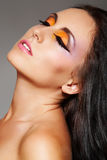 Cosmetic and make-up. Luxury east sensual brunette Royalty Free Stock Image