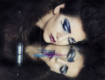 Cosmetic makeup fashion shoot Stock Photography