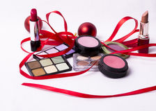 Cosmetic makeup kit Stock Photography