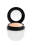 Cosmetic Makeup Powder in Black Round Plastic Case royalty free stock images