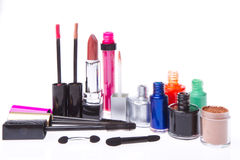 Cosmetic makeup products Royalty Free Stock Images