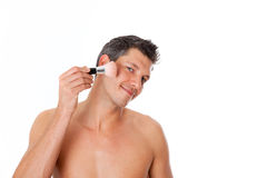 Cosmetic man Royalty Free Stock Photos