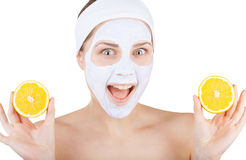 Cosmetic mask Royalty Free Stock Photography
