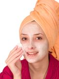 Cosmetic mask Royalty Free Stock Images
