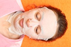 Cosmetic mask Royalty Free Stock Image