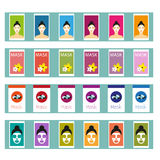 Cosmetic masks Vector illustration Stock Images