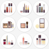 Cosmetic objects Stock Images