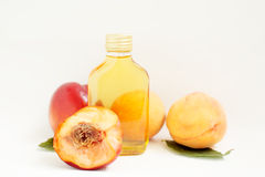 Cosmetic oil peach Royalty Free Stock Photography